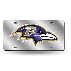 Laser-Engraved Silver License Plate - Baltimore Ravens