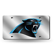 Laser-Engraved Silver License Plate - Carolina Panthers