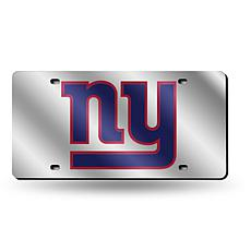 Laser-Engraved Silver License Plate - New York Giants