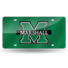 Laser Tag License Plate - Marshall University (Green)