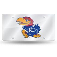 Laser Tag License Plate - University of Kansas (Silver)