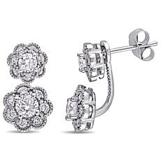 Laura Ashley 0.958ctw Diamond 10K White Gold Studs