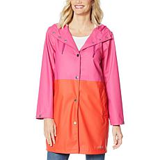 Laurier Colorblock Waterproof Raincoat