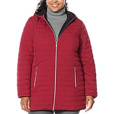 Laurier Hooded Stretch Reversible Coat