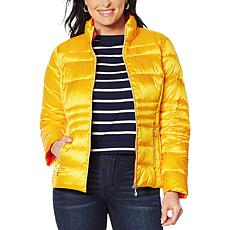 Laurier Packable Solid Water-Resistant Puffer Jacket