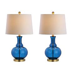 "Lavelle 25"" Glass LED Table Lamp Set of 2 by JONATHAN  Y"