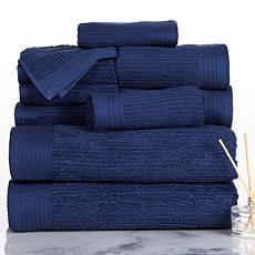 Lavish Home 100% Cotton Ribbed 10-piece Towel Set