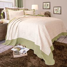 Lavish Home 3-piece Jeana  Embroidered Quilt Set - King