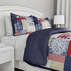 Lavish Home 3-piece Patriotic Americana Quilt Set - Ful