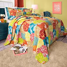 Lavish Home 3-piece Regan Quilt Set - Full/Queen