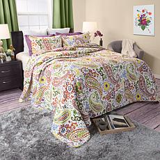 Lavish Home 3-piece Trista Cotton Quilt Set - Full/Quee