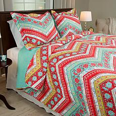 Lavish Home 3-piece Zina Quilt Set - Full/Queen