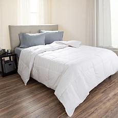 Lavish Home Cotton Feather Down Comforter - Twin