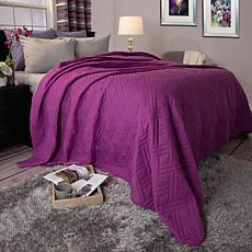 Lavish Home Solid Color Bed Quilt - Twin