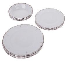 Le Cadeaux 12-piece Melamine Dinnerware Set