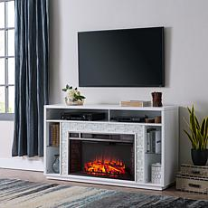 Leisl Glass Tiled Media Fireplace - White Tiles