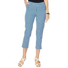 Lemon Way Flawless Twill  Gingham Printed Crop Pant