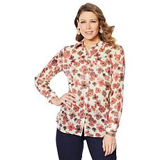 Lemon Way Floral Print Button-Down Shirt