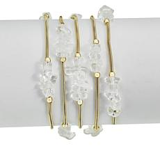 Lemon Way Gem Nugget 5-pc Stretch Bracelet Set