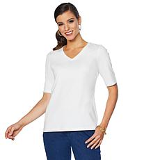 Lemon Way Perfect Pima Elbow-Sleeve Tee - Basic