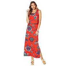 8952b5d1 Lemon Way Printed Popover Maxi Dress