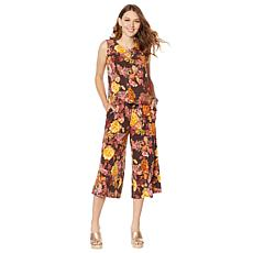 Lemon Way Stretch Jersey Printed Jumpsuit