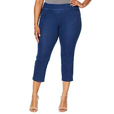 Lemon Way Wonder Stretch Knit Denim Capri Pant