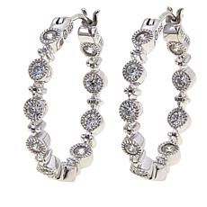 "Leslie Greene 0.6ctw Cubic Zirconia ""Orsay"" Hoop Earrings"
