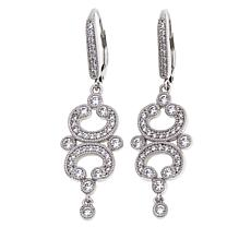 "Leslie Greene 1.24ctw CZ ""Bottega""  Chandelier Earrings"