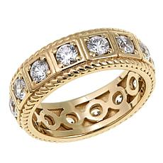 "Leslie Greene 1.5ctw Cubic Zirconia ""Bleeker"" Gold-Plated Ring"