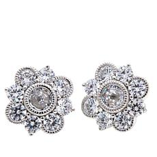 "Leslie Greene 2.1ctw CZ ""Sienna"" Floral Stud Earrings"