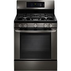 LG 5.4cf Single Oven Gas Range - Black Stainless Steel