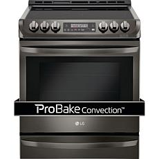 LG 6.3cf Slide-In Electric Range - Black Stainless