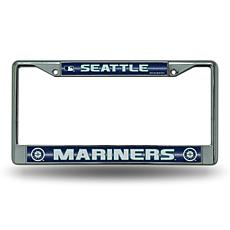 License Plate Frame with Bling - Seattle Mariners
