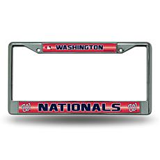 License Plate Frame with Bling - Washington Nationals