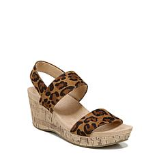 LifeStride® Delaney Slip-On Slingback Wedge Sandal