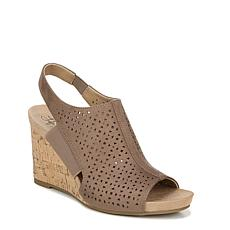 LifeStride Hazel Perforated Slingback Wedge Sandal