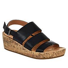 LifeStride Wynonna Slingback Cork Wedge Sandal