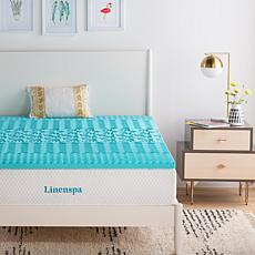 "Linenspa Essentials 2"" 5-Zone Gel Memory Foam Mattress Topper-Twin XL"