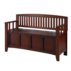 Linon Home Claudia Storage Bench - Brown