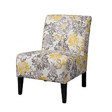 Linon Home Gracie Floral Chair - Gray