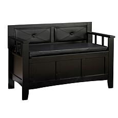 Linon Home Jackson Padded Bench - Black
