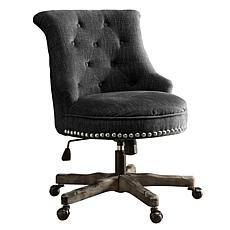 Linon Home Jasper Office Chair with Wood Base