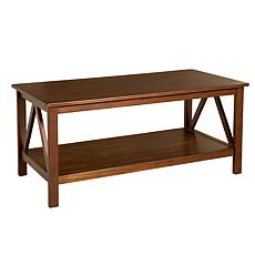 Linon Home Thomas Coffee Table - Antique Tobacco