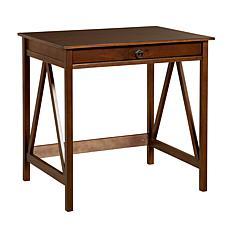 Linon Home Thomas Laptop Desk - Antique Tobacco