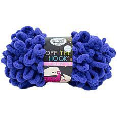 Lion Brand Off The Hook Glitz Yarn - Grape