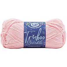 Lion Brand Truboo Sparkle Yarn - Blush