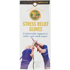 Lion Fingerless Stress-Relief Medium Royal Blue Gloves