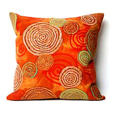 "Liora Manne 20"" Square Graffiti Swirl Pillow - Warm"