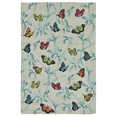 Liora Manne Butterflies on Tree Rug - 7-1/2' x 9-1/2'